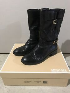 MICHAEL KORS BLAKE BOOT MID CALF DISTRESSED LEATHER SOLD OUT 8