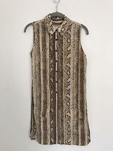 PRICE DROP $80-Equipment Femme Silk Sleeveless Animal Print North Bondi Eastern Suburbs Preview