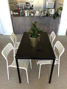 Ikea dining table, 4 seater black perfect condition