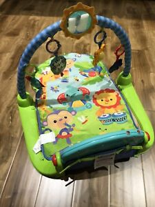 Fisher-price play mat and baby bathtub