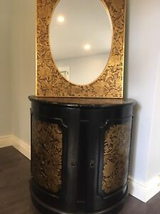 Cabinet with matching mirror