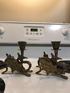 Fire breathing dragon candle holders
