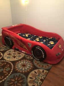 Great condition solid wood base car bed