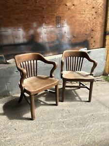 Antique Solid oak chairs for case of steam whistle