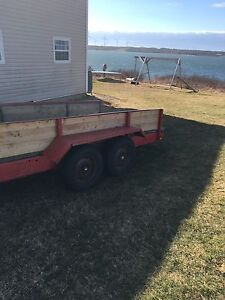 Dual axle 16x7 ft trailer 10000 lb