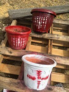 Three pots plastic all for