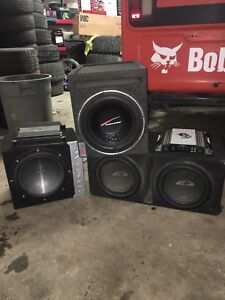 """10"""" & 12"""" Subwoofers + Amps"""