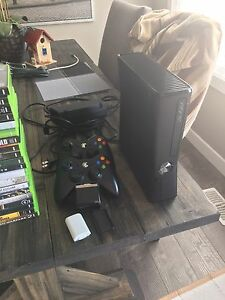 Xbox 360 and a bunch of games