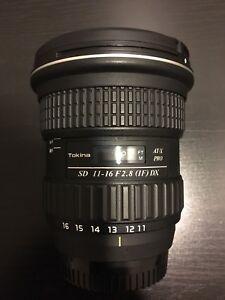 Wide angle Tokina 11 16 Nikon *priced to sell*