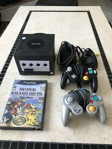 SSBM BUNDLE — GameCube, Melee w/case, Two Controllers & MemCard
