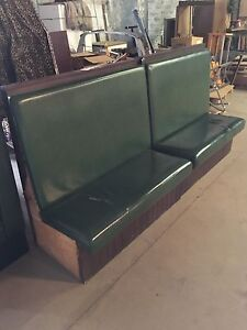 Green Booth Seating. Restaurant, Banquettes, Benches