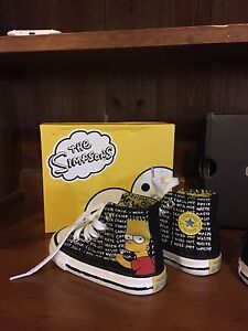 Brand new Bart Simpson chuck Taylor's in size 4 us Broadford Mitchell Area Preview