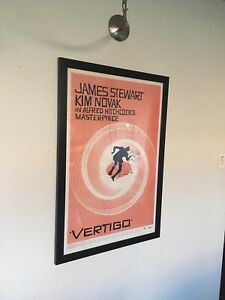 Large framed movie posters