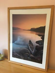 Canoe by the Lake poster - ready to hang