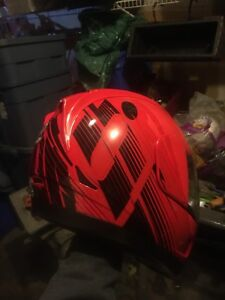 Icon alliance primary gt black and red motorcycle helmet