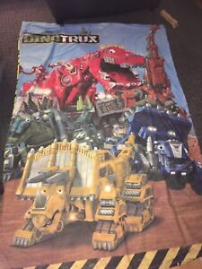 Dinotrux twin duvet cover and duvet