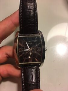 Guess Watch with leather band.