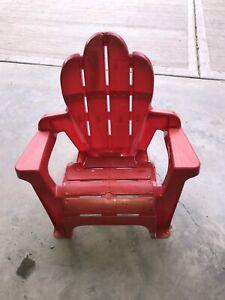 Kids Adirondack chair: Red