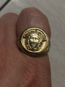 Versace ring solid/bague en Versace 10k