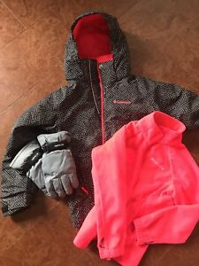 **GIRLS - COLUMBIA WINTER JACKET 7/8 10/12 with FREE  gloves!!