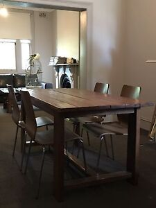 Dining Table - made from recycled Railway Sleepers Lilyfield Leichhardt Area Preview