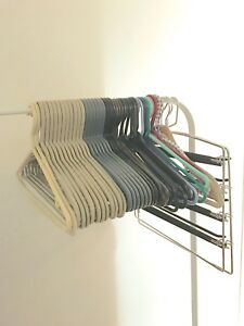 45 clothes, coat and pant hangers