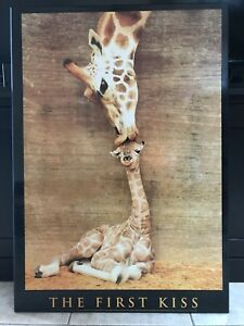 "Giraffe print - ""the first kiss"""
