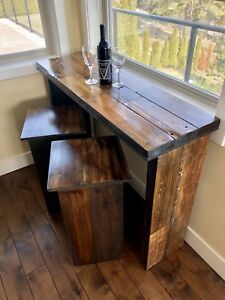 Bar table with two stools