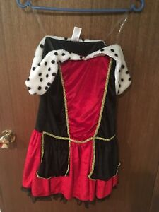 Queen of Hearts Costume 8/10 yrs