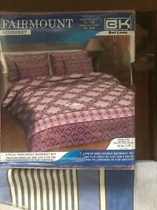 Queen size BedSheets 2pillow covers