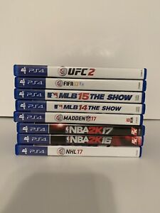 PS4 Game Lot - 8 Sports Titles in Total