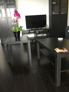 IKEA LACK coffee table and side table