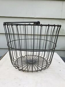 Antique Metal Wire Basket Egg Potato Country Living