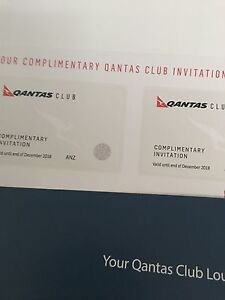 Qantas lounge pass x 2 valid till December 2018 Northgate Brisbane North East Preview