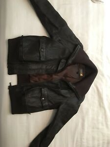 Ladies Danier leather bomber lined jacket