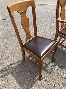 Antique Oak Dining Room Chairs