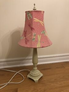 Pink Dragonfly Lamp