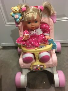 Stroller and doll
