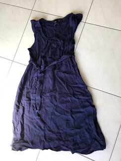 ASOS maternity navy blue dress size small