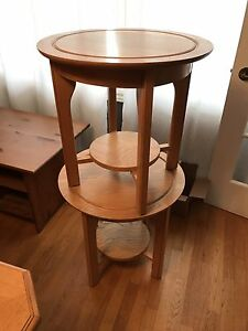 Set of end tables and half moon table