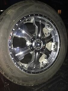 "20"" wheels with tires 6x139.7"