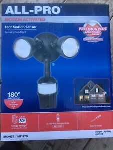 Motion activated security floodlight