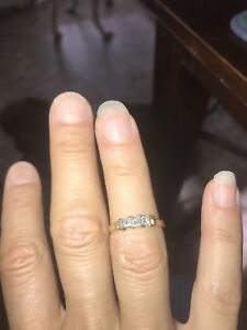 Engagement ring and birth stone ring