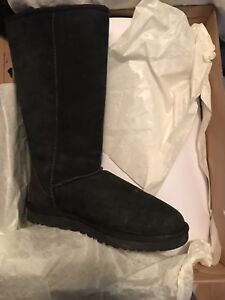 Tall black UGG boots size 8