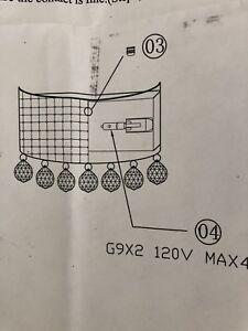 Moving  - new designer wall sconce light  - $40