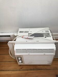 Two Comfee A/C window units, like new.