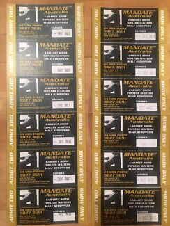 12 double passes to Mandate Topless Cabaret