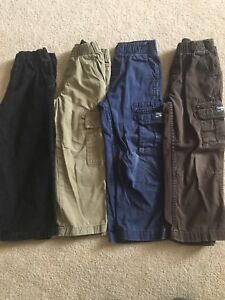 4 pairs of boys pants all size 4
