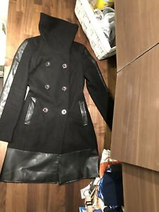 Bedo black wool coat XS