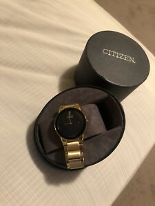 Citizen eco drive gold watch